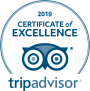 TripAdvistor 2019 Certificate of Excellence